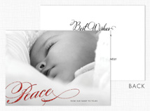 """Peace"" Holiday Photo Card"