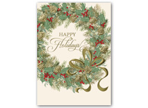 Illustrated Wreath Holiday Cards